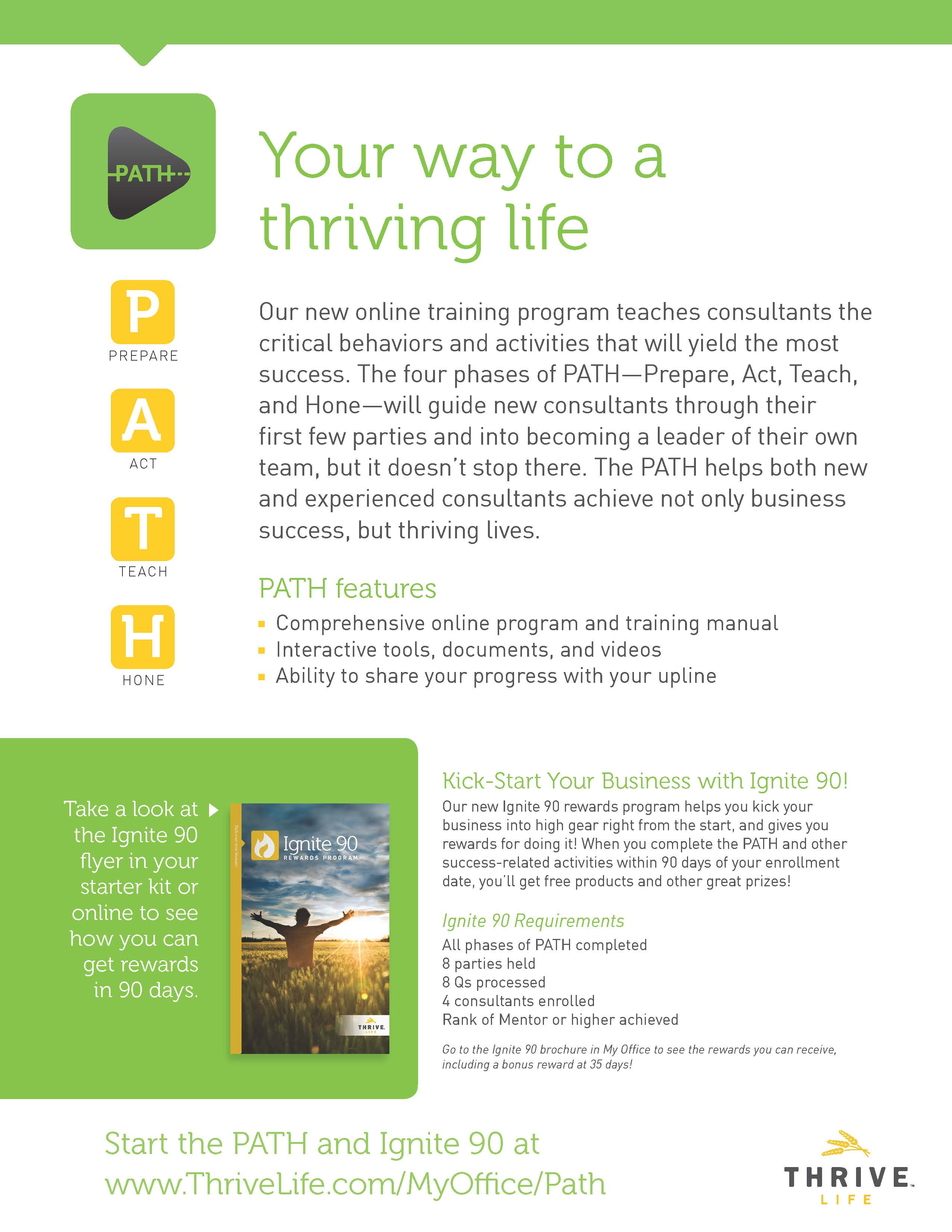Path Thrive Consultant training
